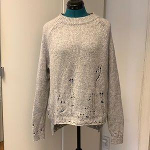 ⭐️ BCBG MAX AZRIA distressed sweater